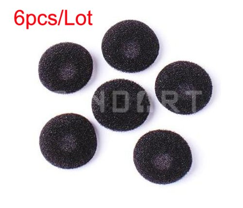 6Pcs Headphone Earbud Ear Pad Earphone Foam Cover Black