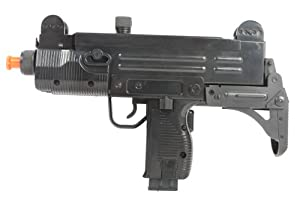 Soft Air Uzi Mini SMG Electric Powered Airsoft Submachine Gun (Black)