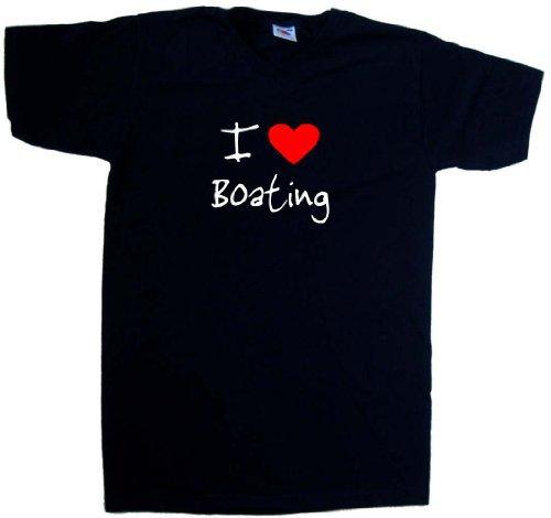 I-Love-Heart-Boating-Black-V-Neck-T-Shirt