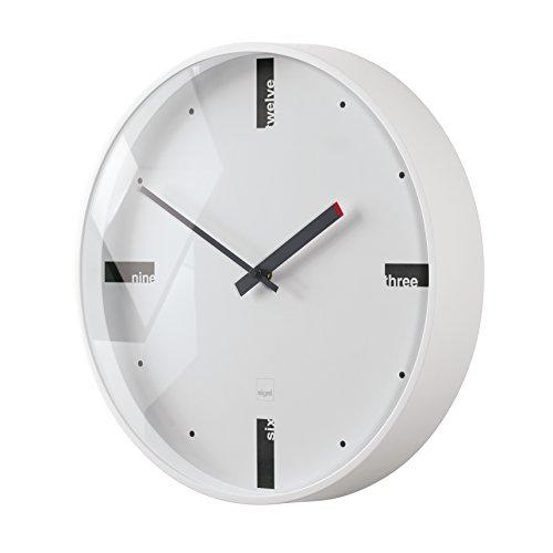 Orologio da parete design artetempus, modello acto, bianco