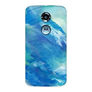 Delighted Art Blue Multicolor Back Case Cover for Moto X 2nd Gen