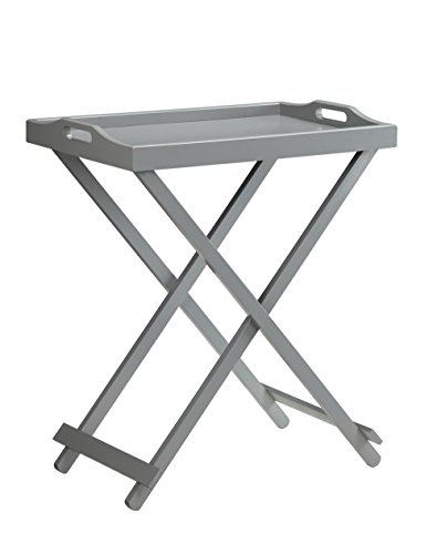 Convenience Concepts Designs 2 Go Folding Tray Table, Gray (Antique Tv Trays compare prices)