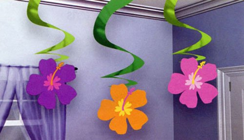 Summer Flower Hanging Swirls - 1