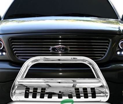 Chrome HAMMERED Stainless Steel Bull Bar Brush Bumper Grille Guard Nissan Titan Armada (2012 Nissan Armada Grille compare prices)