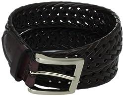 U.S. Polo Assn. Men's Herringbone Braid Belt, Brown, 42