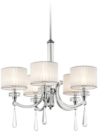 Kichler Lighting 42631CH 5 Light Parker Point Chandelier, Chrome