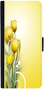 Snoogg beautiful yellow tulips background Designer Protective Flip Case Cover For Apple Iphone 6s