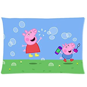 Amazon.com - Cute Design Peppa Pig Image Custom Rectangle Pillow Cases