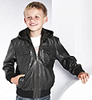 Living the Dream Leather Zip Through Hooded Bomber Jacket