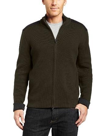 (2.4折) 维氏男款开衫Victorinox Mahale Cardigan Sweater 橄榄色$69.99