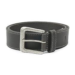 Wolux Men's Black Leather Belt Large