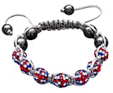 Shamballa Bling bling bracelet by BodyTrend - Union Iced Balls & Grey Glass Beads - fits lovely on any wrist - perfect for a gift - packed in a cute velvet pouchette - Fits 7