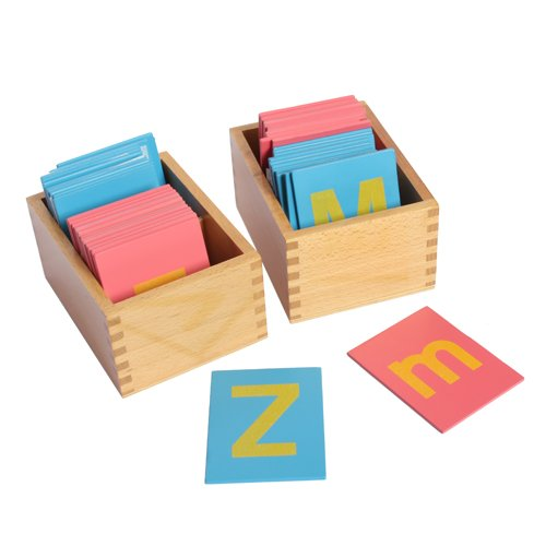 Lowercase and Capital Sandpaper Letters w/ Boxes