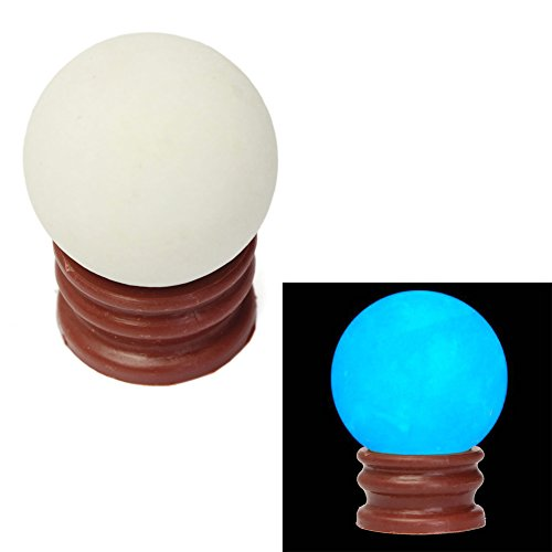 Kocome 35MM Blue Luminous Quartz Crystal Sphere Ball Glow In The Dark Stone With Base (Glow Stones Blue compare prices)