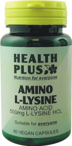 Health Plus Amino L-Lysine HCL 500mg Amino Acid Supplement - 60 Capsules