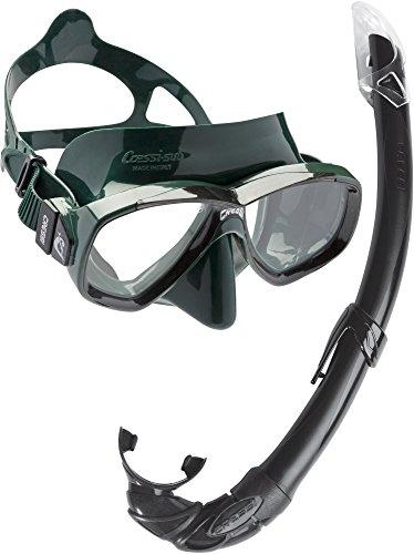 Cressi Perla Mare Combo Maschera Subacquea, Verde/Nero