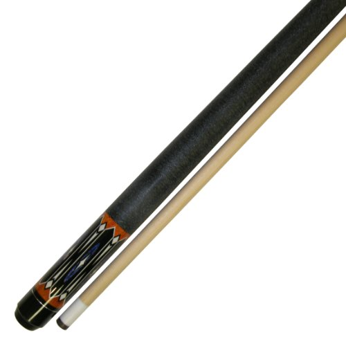 Iszy Billiards 58-Inch Hardwood Canadian Maple Pool Cue Billiard Stick With Irish Wrap (2-Piece), Black, 20-Ounce