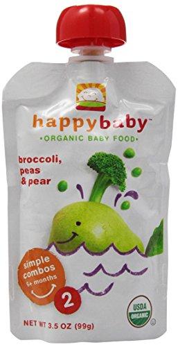 Happy Baby Simple Combos Broccoli, Peas & Pear, Stage 2, 3.5 oz - 1