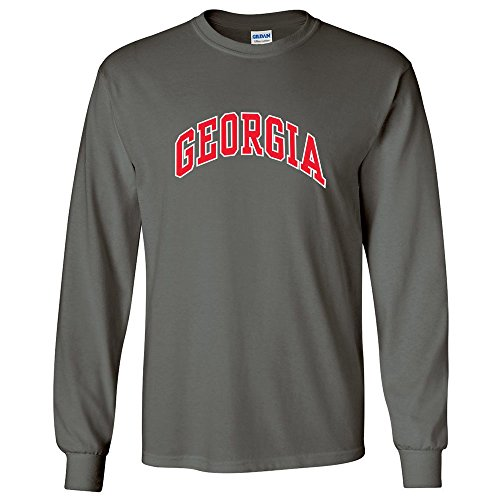 University of Georgia Bulldogs UGA Classic Arch Adult Long Sleeve T-Shirt (Charcoal, L) (Uga Bulldogs compare prices)