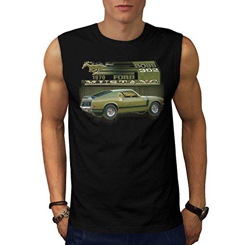 Guado Mustang Capo Classico Motore Uomo Nuovo Nero T-Shirt Senza Maniche XXL | Wellcoda