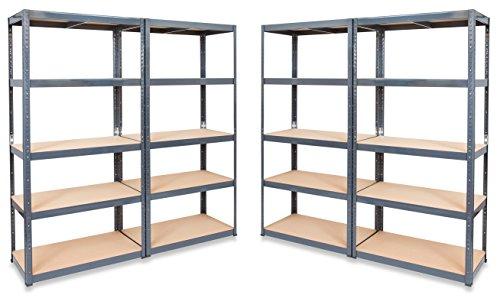 4-x-storalexr-450mm-deep-garage-racking-shelving-units-265kg-shelf-udl-free-mallet