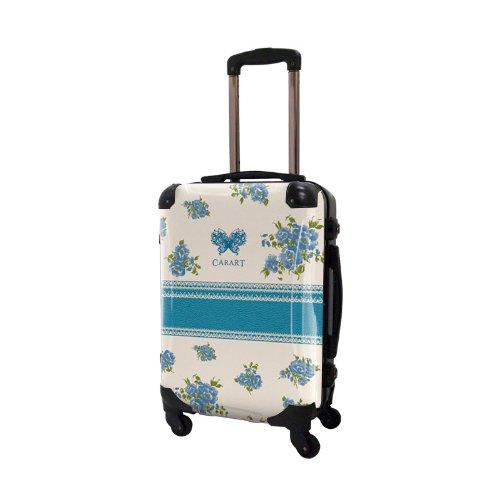 キャラート アートスーツケース プロフィトロール フラワースプレー フレーム4輪 機内持込 (CRA01-029G(サックスブルー))