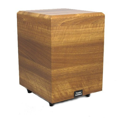 Theater Solutions Sub8Dm Down Firing Powered Subwoofer (Mahogany)