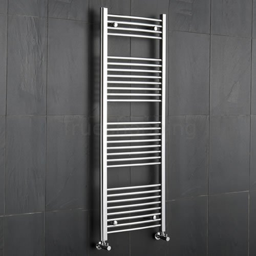 Kudox Premium Chrome Curved Heated Bathroom Towel Radiator Rail 600mm x 1500mm
