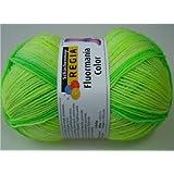 100 g Sockenwolle Regia Fluormania, Fb. 07186 Neon Leaf Color