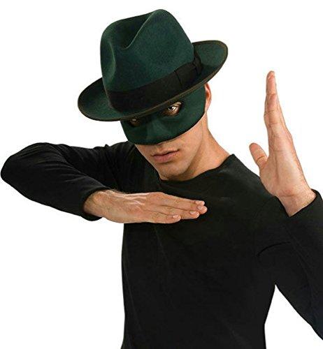 [Popcandy The Green Hornet Deluxe Adult Costume Fedora Hat] (Green Hornet Costume Men)