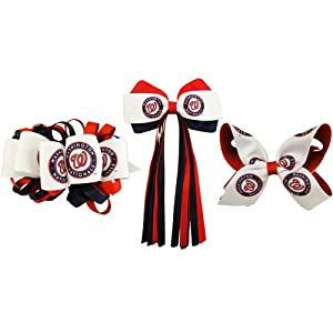 MLB Washington Nationals French Barrette Collection by USA Licensed Bows