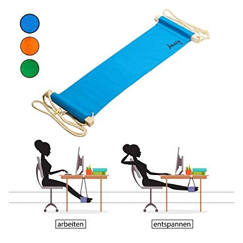Amazy-Fu-Hngematte-Praktische-Fusttze-zur-Entspannung-und-Entlastung-im-Bro-Blau