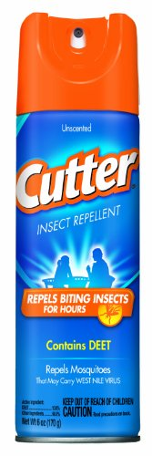 Cutter 51020 Unscented Insect Repellent 10-Percent DEET, 6-Ounce Aerosol