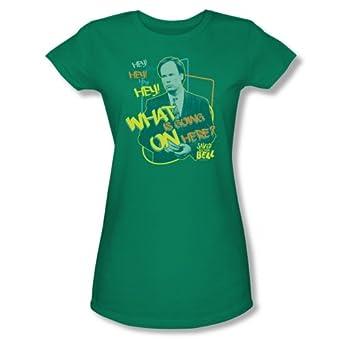 Buy Saved By The Bell Sitcom TV Series NBC Mr. Belding Juniors Sheer T-Shirt Tee by 2Bhip