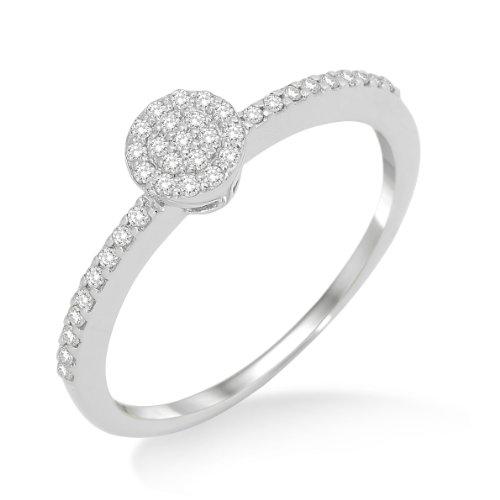 231aa212933 Miore - MP9023RR - Bague Femme - Or blanc 375 1000 (9 carats) 1.38 gr -  diamants 0