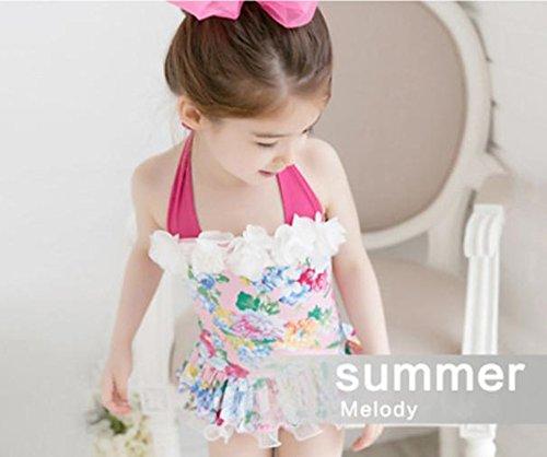 c30922e5fa32e ... (モモデリ) MOMODELI 子供用女の子水着花柄ワンピース帽子付海プール90 ...