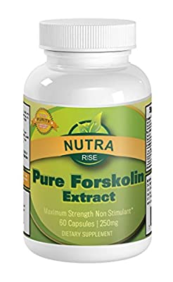 Pure Forskolin Coleus Forskohlii Root Extract Standardized to 20% For Weight Loss, 250mg per serving, The Revolutionary Fat Buster and Melting Belly Fat as seen on TV - Manufactured in a USA Based GMP Organic Certified Facility - Third Party Lab Tested Fo