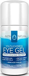 InstaNatural Eye Cream For Dark Circles, Puffiness, Wrinkles & Bags - Best Under Eye Gel For Eye Bags, Crows Feet and Fine Lines -All Natural- 1.7 Ounces