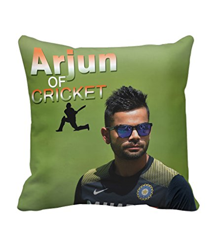 TIEDRIBBONS -CRICKET world cup passion fever Gift For GirlFriend Gift For BoyFriend Gift For Friends Gift For Wife Gift For Husband Gift Cushion Cover (12x12)inch with filler  available at amazon for Rs.299