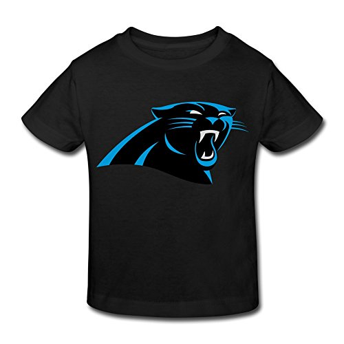 Toddler Kids O-Neck Carolina Panthers Logo T Shirt Black Toddler
