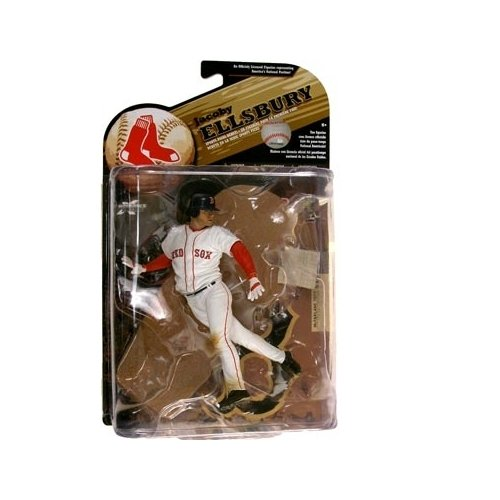 McFarlane Toys MLB Sports Picks Series 25 (2009 Wave 2) Action Figure Jacoby Ellsbury (Boston Red Sox) White Jersey - 1