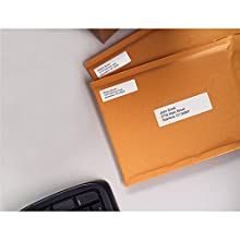 DYMO 30330 LabelWriter Self-Adhesive Return Address Labels, 3/4- by 2-inch, White, Roll of 500