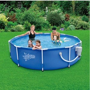 Round Frame Pool 10 39 X 30 With 580 Gph Skimmerplus Filter Pump Toys Games
