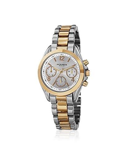 Akribos XXIV Women's AK809TTG Quartz Two-Tone Gold/Silver/Silver Base Metal Watch