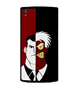 printtech Two Face Superhero Gotham Back Case Cover for OnePlus X