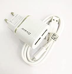MobileGabbar Compatible 2.1 AMP Dual USB Mobile Charger For HTC EVO Design 4G