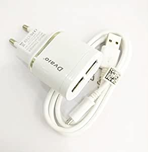 MobileGabbar Compatible 2.1 AMP Dual USB Mobile Charger For Micromax A116 Canvas HD