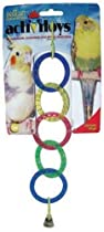JW Pet Company Activitoy Olympia Rings Small Bird Toy, Colors Vary