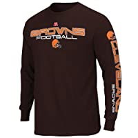 NFL Cleveland Browns Primary Receiver III Long Sleeve T-Shirt - Brown from Nutmeg