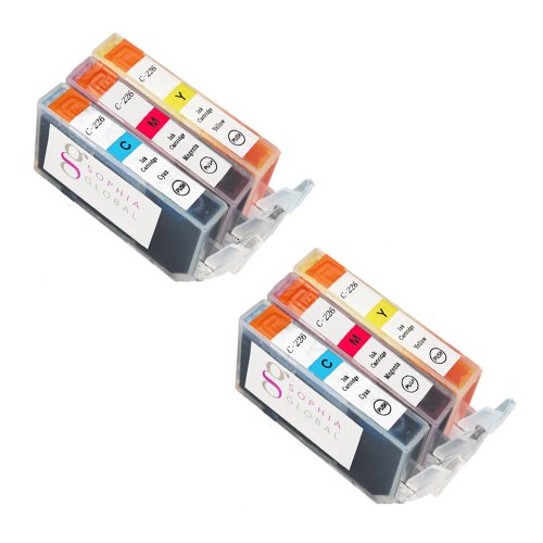 Sophia Global Compatible Ink Cartridge Replacement for CLI-226 PIXMA printers including MX882 MG8220 MX892 MG6220 (2 Cyan, 2 Magenta, 2 Yellow)